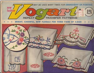 Vogart envelope #128, bright cheerful florals for three pairs of cases